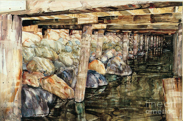 Painting - Under The Boardwalk by P Anthony Visco