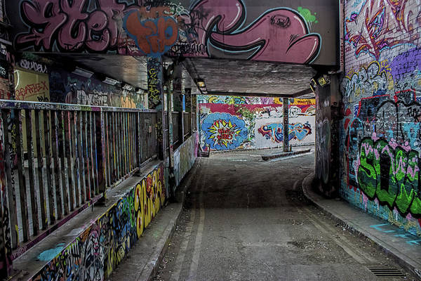Hand Painted Photograph - Under The Bridge by Martin Newman