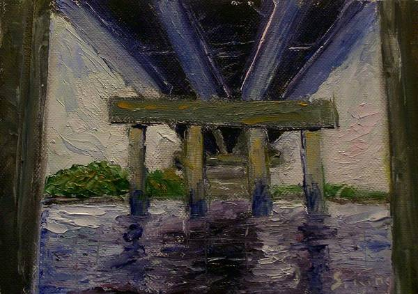 Stephen King Painting - Under The Bridge by Stephen King
