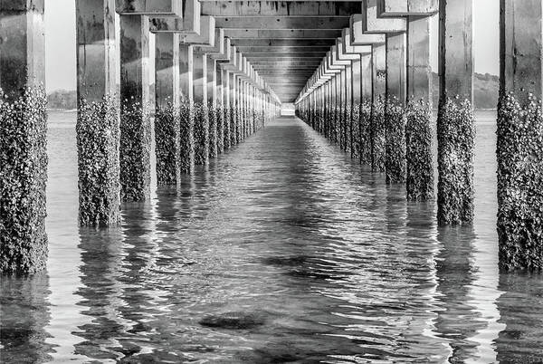 Under The Pier Photograph - Under The Dock - Thailand by Georgia Fowler
