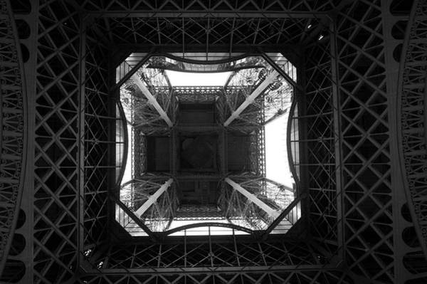 Photograph - Under The Eiffel Tower by Helen Northcott