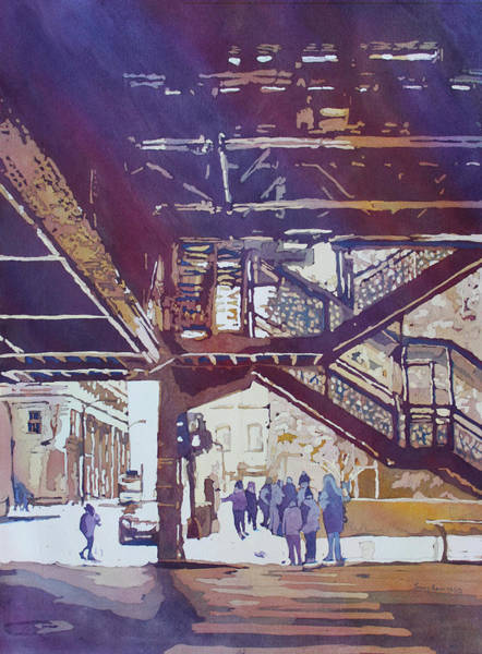 Painting - Under The El by Jenny Armitage