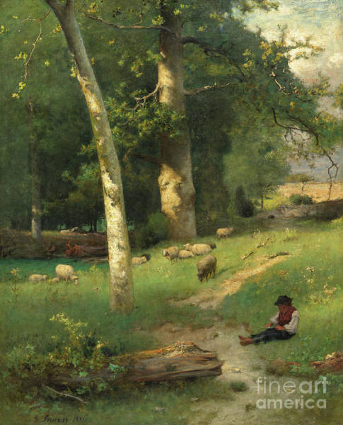 Wall Art - Painting - Under The Greenwood by George Inness Jnr