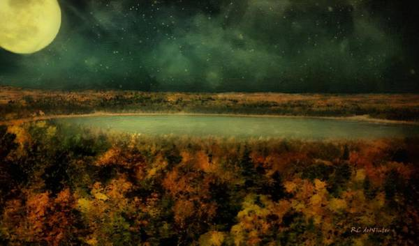 Painting - Under The Harvest Moon by RC DeWinter