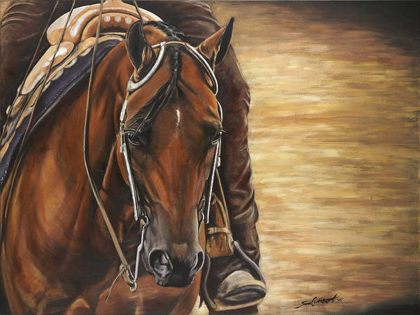 Aqha Painting - Under The Lights by Sara Cuthbert
