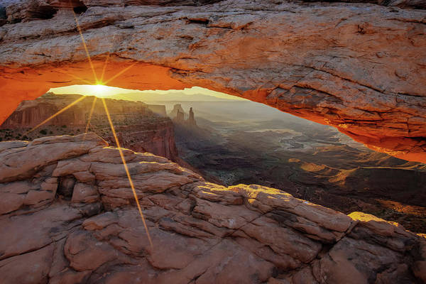 Photograph - Under The Mesa Arch - Canyonlands Np Moab Utah Mountain Landscape by Gregory Ballos