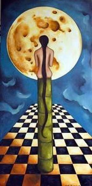 Painting - Under The Moon by Leah Saulnier The Painting Maniac