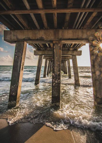 Under The Pier Photograph - Under The Naples Pier by Tony Castillo