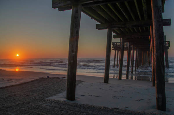 Under The Pier Photograph - Under The Pier - Avalon New Jersey Sunrise by Bill Cannon