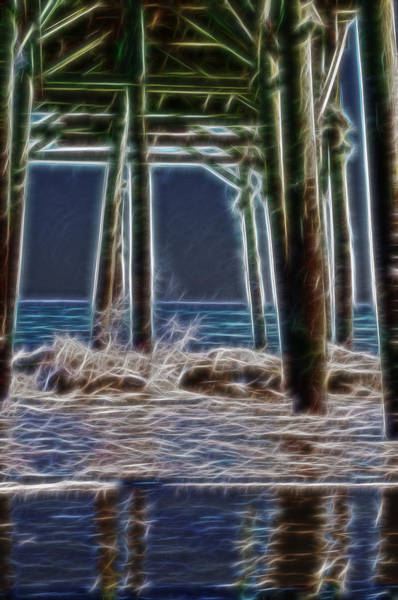 Atlantic Digital Art - under the pier Electric by Chris Flees