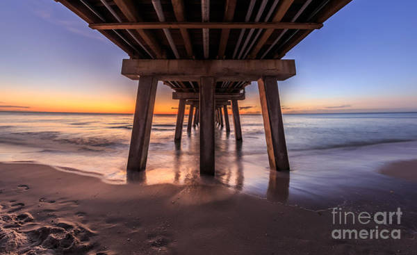 Photograph - Under The Pier by Hans- Juergen Leschmann