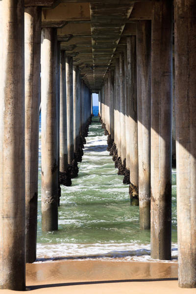 Support Photograph - Under The Pier In Orange County California by Paul Velgos