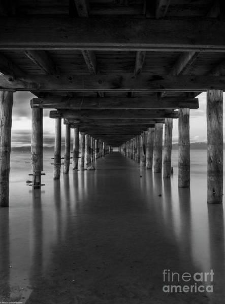 Under The Pier Photograph - Under The Pier by Mitch Shindelbower