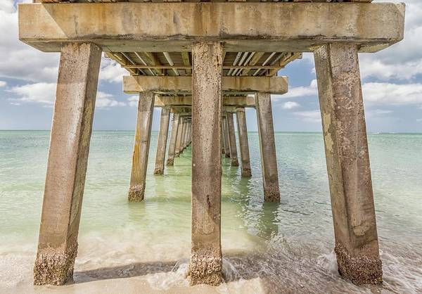 Photograph - Under The Pier Naples by Framing Places