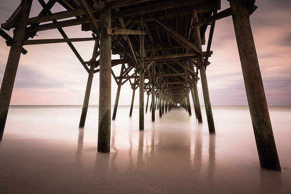 Wall Art - Photograph - Under The Pier Sunset, Garden City by Ivo Kerssemakers