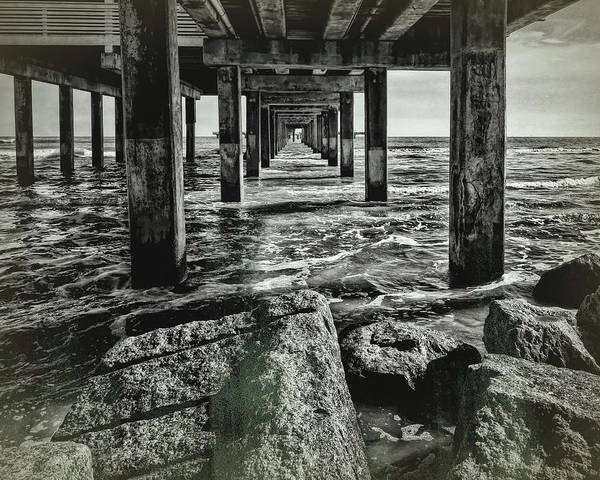Under The Pier Photograph - Under The Pier Vintage by Judy Vincent