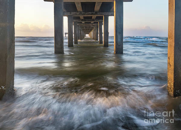 Wall Art - Photograph - Under The Port Aransas Pier Mustang Island Texas by Ronda Kimbrow