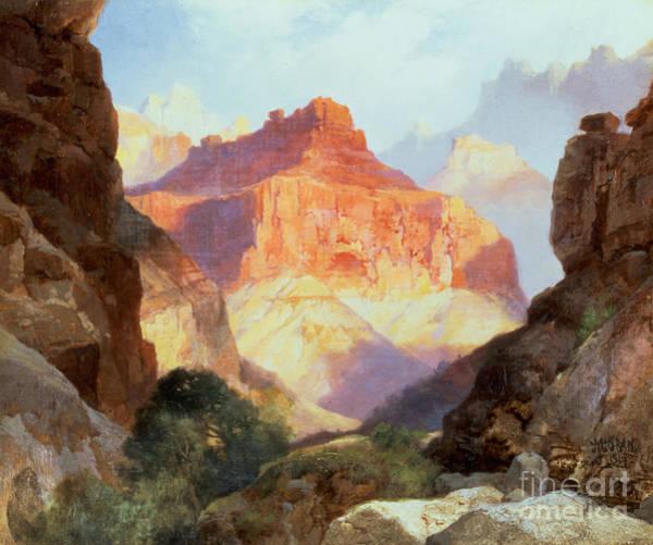 Moran Painting - Under The Red Wall by Thomas Moran