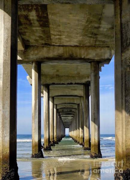 Scripps Pier Photograph - Under The Scripps Pier Vertical by Beth Myer
