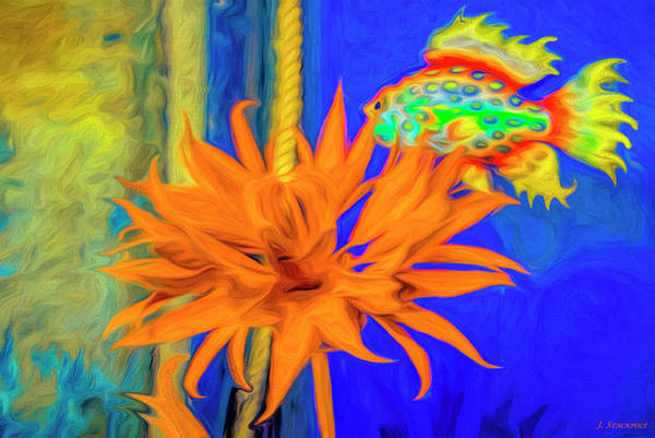 Liquify Photograph - Under The Sea Abstract by Jennifer Stackpole