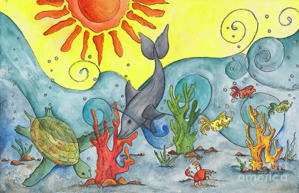 Wall Art - Painting - Under The Sea by Ahnna Galena