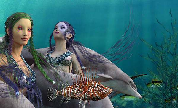 Wall Art - Digital Art - Under The Sea  by Betsy Knapp