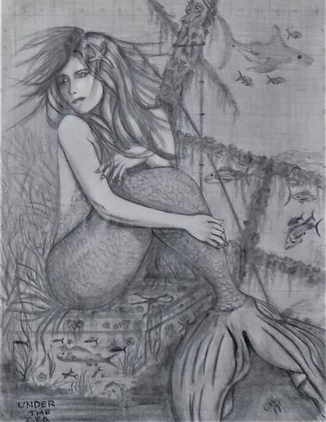 Drawing - Under The Sea by Chuck Caputo