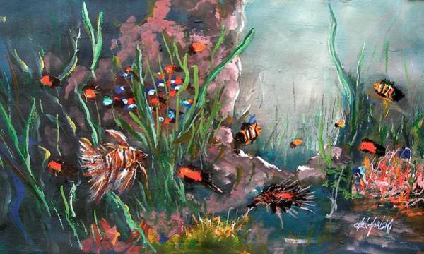 Painting - Under The Sea Colors by Miroslaw  Chelchowski