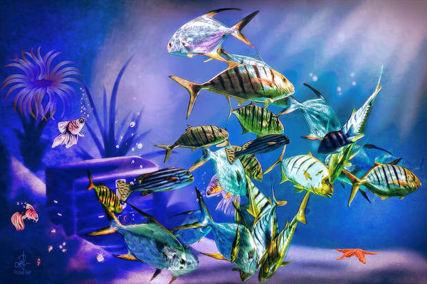 Digital Art - Under The Sea by Pennie McCracken