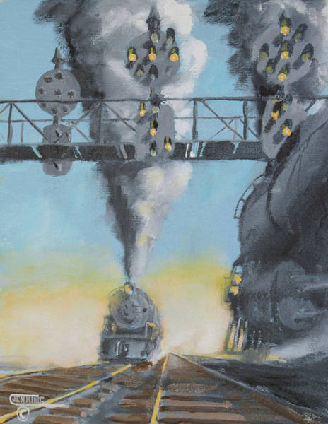 Pennsy Painting - Morning On The Pennsylvania Railroad  by Christopher Jenkins