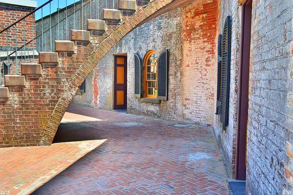 Photograph - Under The Stairs At Fort Macon  by Lisa Wooten