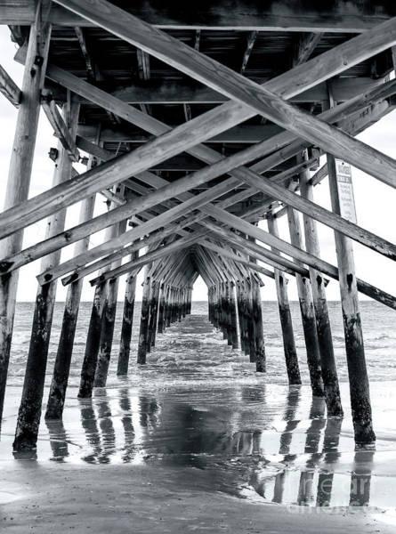 Under The Pier Photograph - Under The Sunset Beach Pier by John Rizzuto