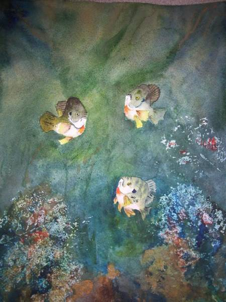 Painting - Under The Surface - Gills by Audrey Bunchkowski
