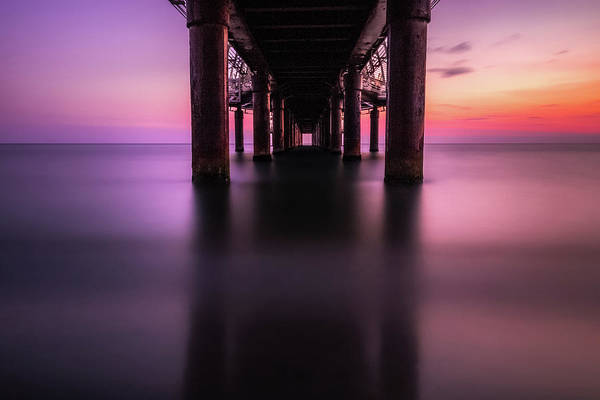 Photograph - Under The Twilight Pier by Matteo Viviani