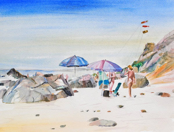 Painting - Under The Umbrella by P Anthony Visco