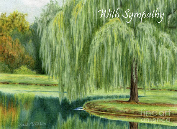 Wall Art - Painting - Under The Willow Tree- Sympathy Cards by Sarah Batalka