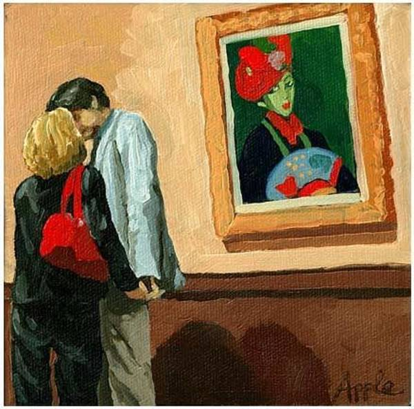 Wall Art - Painting - Under Watchful Eyes by Linda Apple