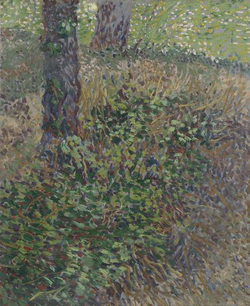 Painting - Undergrowth Paris  July 1887 Vincent Van Gogh 1853  1890 by Artistic Panda