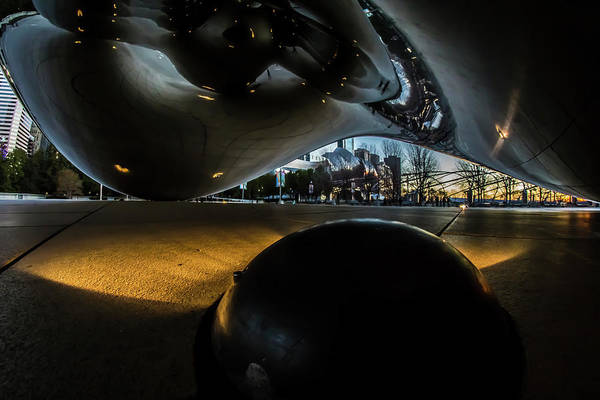 Photograph - Underneath Chicago's Cloud Gate At Dawn  by Sven Brogren
