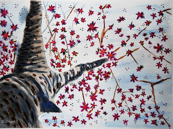 Painting - Underneath The Cherry Blossoms by Carol Crisafi