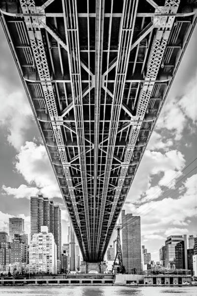 Roosevelt Island Wall Art - Photograph - Underneath The Queensboro Bridge by Susan Candelario