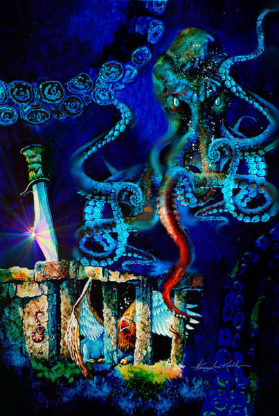 Wall Art - Painting - Undersea Fantasy Illustration by Hanne Lore Koehler