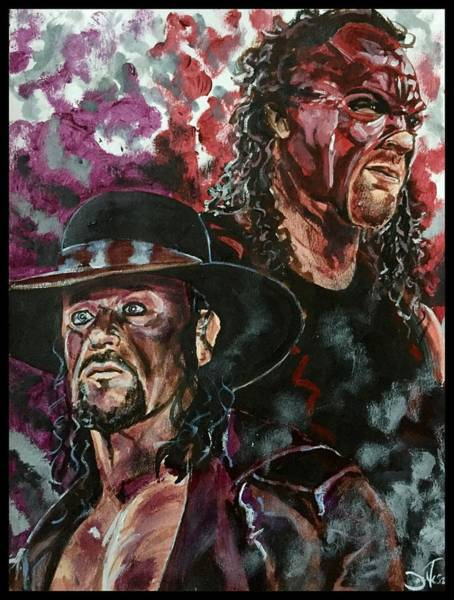 Undertaker And Kane Art Print