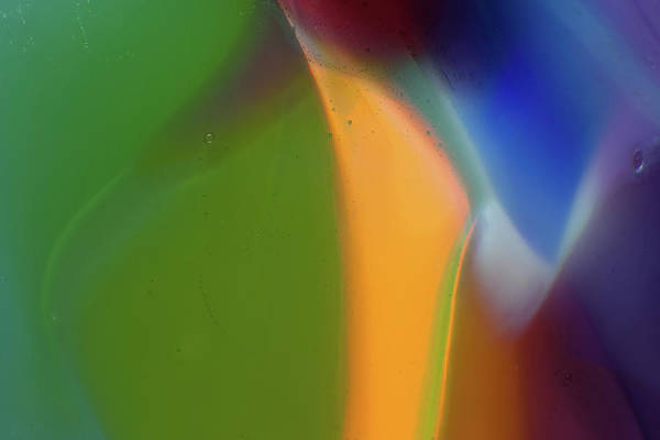 Photograph - Underwater Fantasies Abstract Glass Photography By Omashte by Omaste Witkowski