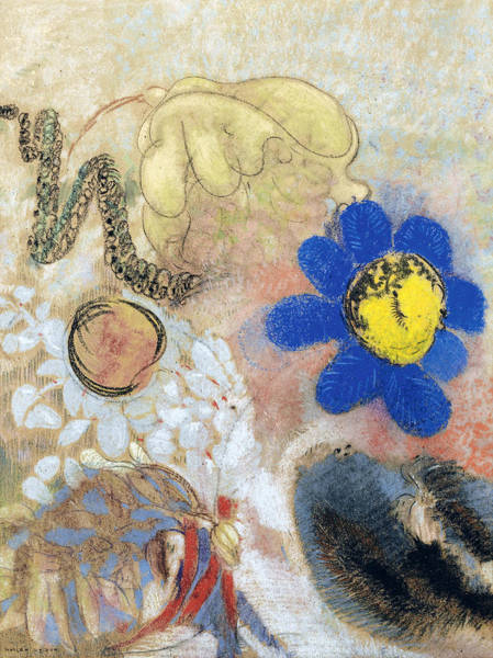 Drawing - Underwater Flora by Odilon Redon