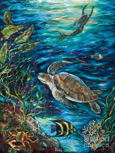 Underwater Friends Art Print