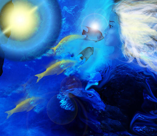 Lagoon Digital Art - Underwater Magic by Patricia Motley
