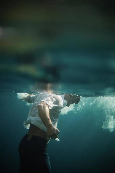 Underwater Man Art Print