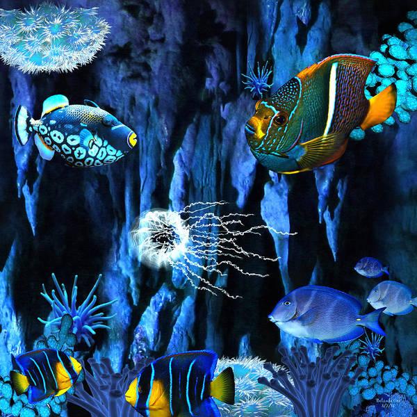 Digital Art - Underwater Refuge by Artful Oasis