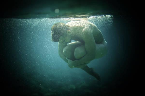 Underwater Rock Art Print